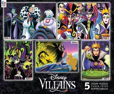 Disney Villains 5 in 1 Jigsaw Puzzles