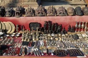 Display of Masks and Bronze Handicrafts, Durbar Square, Patan, Nepal