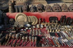 Display of Masks and Handicrafts, Durbar Square, Patan, Nepal