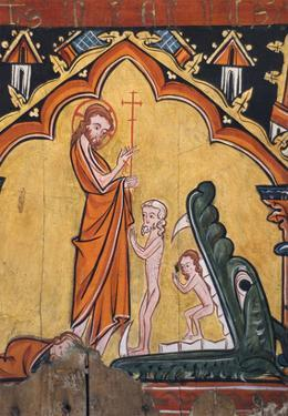 Disrobing Youths from the Entry into Jerusalem, Flagellation, and Angel at the Sepulcher