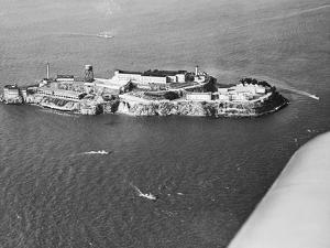 Distant View of Alcatraz Prison