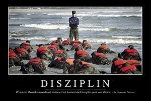 Disziplin: Motivationsposter Mit Inspirierendem Zitat