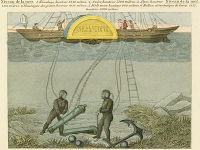 Divers Salvaging Guns from the Seabed, C1855
