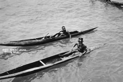 Diving Boys, Sierra Leone, 20th Century