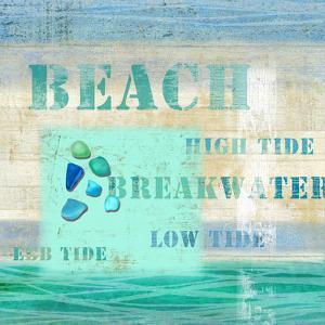 Diving Girl Seaside Beach Ocean Wood Sign