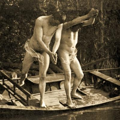 Diving Off a Rowing Boat, C.1910