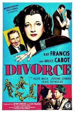 Divorce, US poster, Bruce Cabot, Kay Francis, 1945
