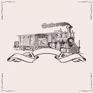 Vintage Locomotive Banner. Vector Illustration. by Dl1on