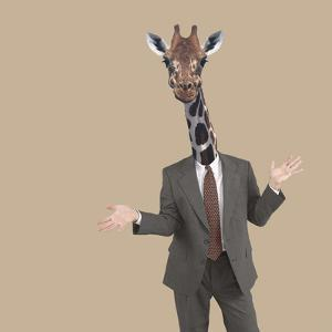 Businessman Sticking Neck Out by DLILLC