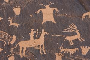 Detail of Petroglyphs at Newspaper Rock by DLILLC