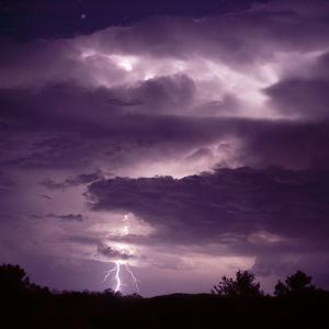 Lightning during Thunderstorm by DLILLC