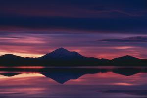 Mount Shasta at Sunset by DLILLC