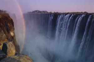 Rainbow over Waterfall by DLILLC
