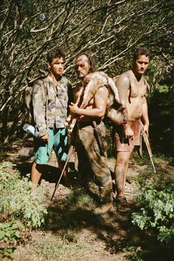A Man and His Sons Return from a Successful Hunt in the Marquesas Islands by Dmitri Alexander
