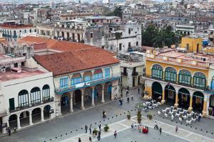 An Aerial View of Plaza Vieja in Old Havana by Dmitri Alexander