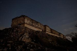 The Governor's Palace Mayan Ruins Under a Star Filled Sky at Twilight by Dmitri Alexander