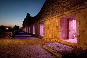 The Mayan Nunnery Quadrangle Ruin Illuminated at Night by Dmitri Alexander
