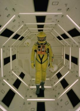 """Actor Gary Lockwood in Space Suit in Scene from Motion Picture """"2001: A Space Odyssey"""" by Dmitri Kessel"""