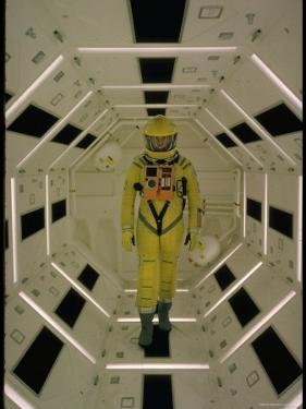 "Actor Gary Lockwood in Space Suit in Scene from Motion Picture ""2001: A Space Odyssey"" by Dmitri Kessel"