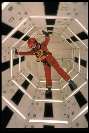 """Actor Keir Dullea Wearing Space Suit in Scene from Motion Picture """"2001: A Space Odyssey"""""""
