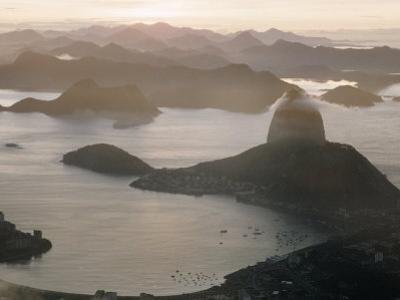 Aerial at Dusk of Sugar Loaf Mountain and Rio de Janeiro by Dmitri Kessel