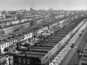Aerial View of Town Houses in Baltimore by Dmitri Kessel