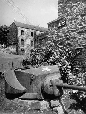 "Bastogne, Including ""Nuts"" on Signs of WWII Landmarks"