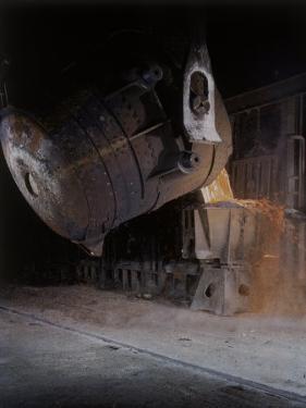 Bessemer Pouring Molten Steel at Birmingham Steel Company by Dmitri Kessel