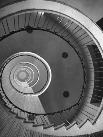 Circular Stairs of Bremen Trade School by Dmitri Kessel