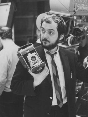 "Film Director Stanley Kubrick Holding Polaroid Camera During Filming of ""2001: A Space Odyssey"" by Dmitri Kessel"