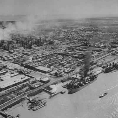 General View Showing the Abadan Oil Refinery