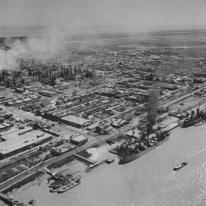 General View Showing the Abadan Oil Refinery by Dmitri Kessel