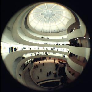 Interior Views of the Frank Lloyd Wright Designed, Solomon R. Guggenheim Museum by Dmitri Kessel