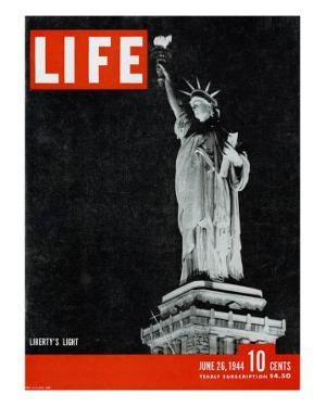 Liberty's Light, June 26, 1944 by Dmitri Kessel