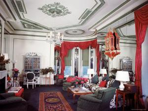 Living Room of the Vertes Suite, Decorated by Lady Mendl, at the Plaza Hotel by Dmitri Kessel