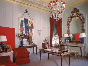 Photographer Cecil Beaton's Living Room in His Suite at the Plaza Hotel by Dmitri Kessel