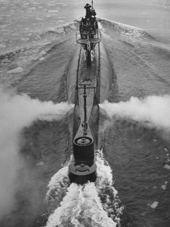 Submarine Roaring Through the Ocean by Dmitri Kessel
