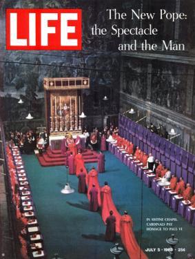 The New Pope, Vatican Interior, July 5, 1963 by Dmitri Kessel