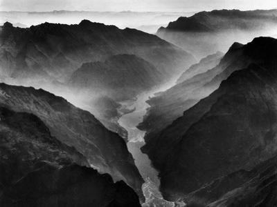 """The Yangtze River Passing Through the Wushan, or """"Magic Mountain"""", Gorge in Szechwan Province by Dmitri Kessel"""