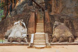 Exterior of the Entrance to the Sigiriya Lion Rock Fortress in Sigiriya, Sri Lanka. Sigiriya is Lis by Dmitry Chulov