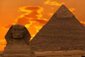 The Sphinx And Great Pyramid, Egypt by Dmitry Pogodin