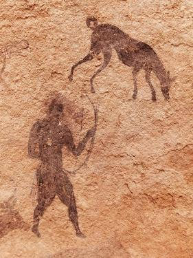 Famous Prehistoric Rock Paintings Of Tassili N'Ajjer, Algeria by DmitryP