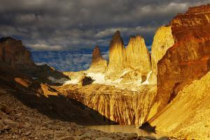Towers at Sunrise, Torres Del Paine National Park, Patagonia, Chile by DmitryP