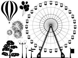Amusement Park Elements by dmstudio