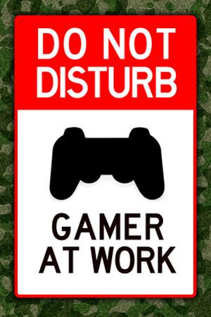 Do Not Disturb Gamer at Work Video PS3 Game