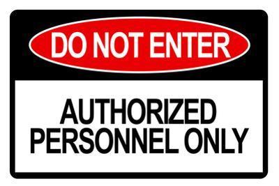 Do Not Enter Sign Plastic Sign