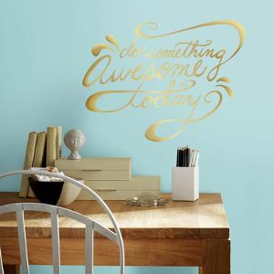 Do Something Awesome Quote Peel and Stick Wall Decals