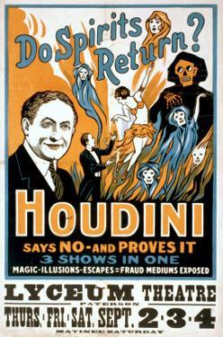 Do Spirits Return? Houdini Says No