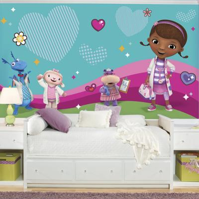 Doc Mcstuffins and Friends XL Chair Rail Prepasted Mural