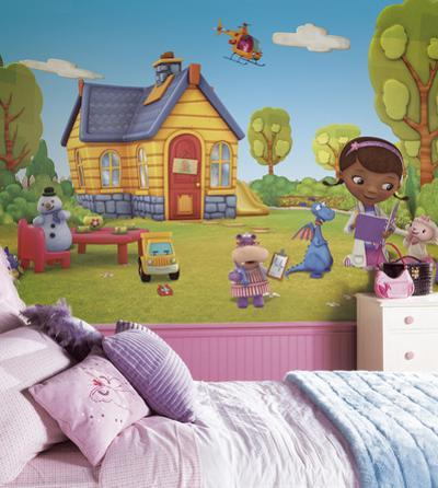 Doc McStuffins Chair Rail Prepasted Mural